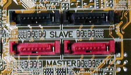 マザーボード上のシリアルATAコネクター